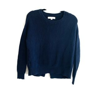 3/25$ Ann Taylor Loft Blue Knitted Sweater. XS
